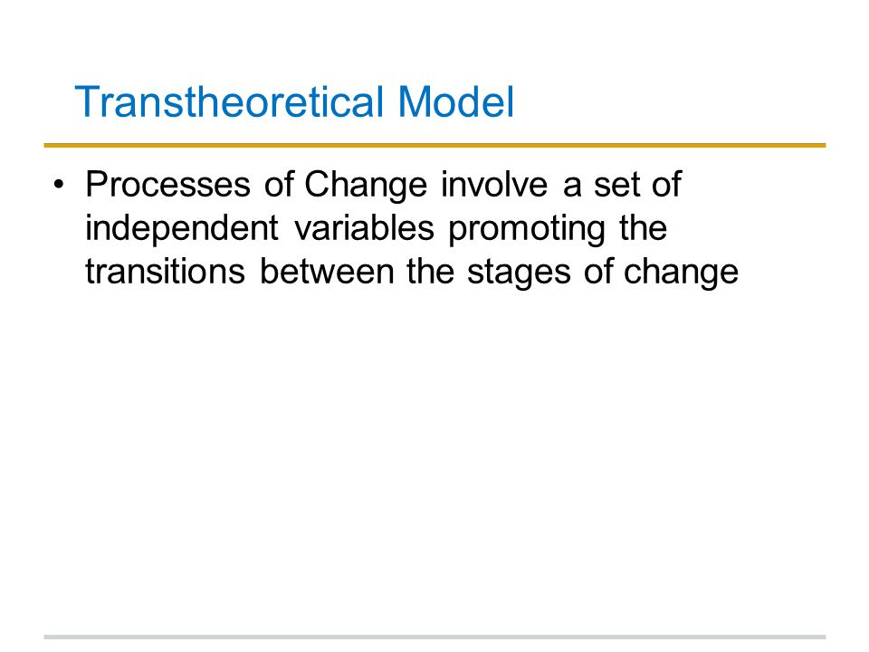 Transtheoretical Model
