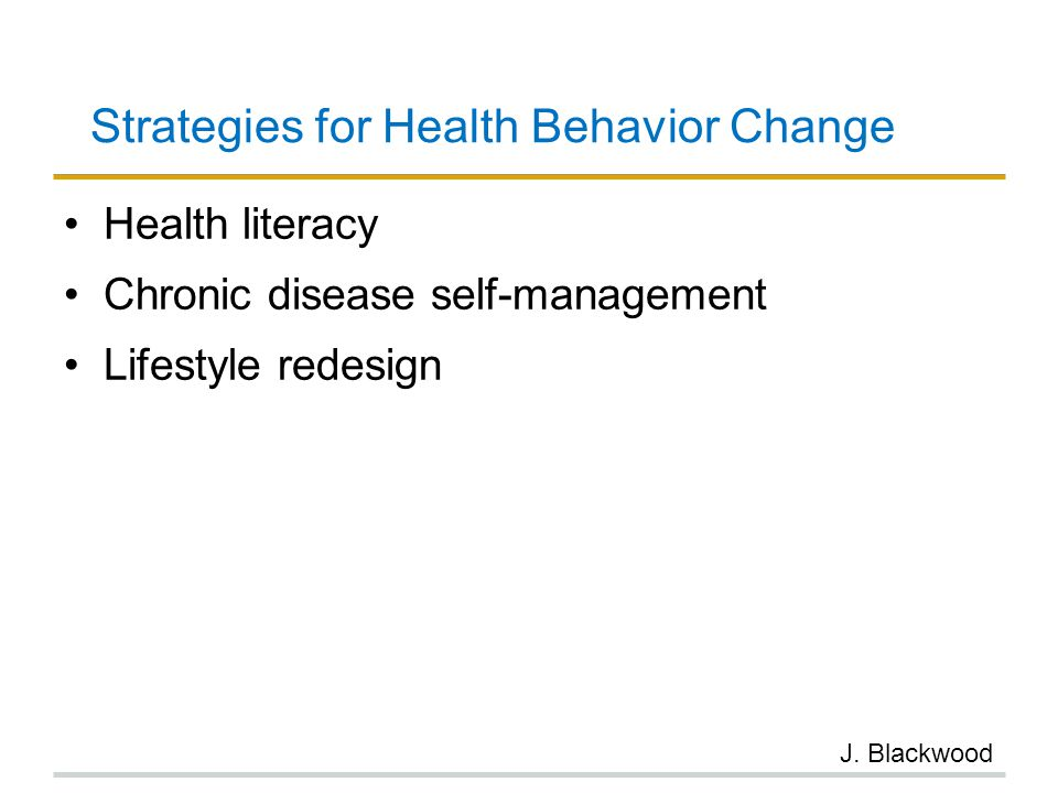 Strategies for Health Behavior Change