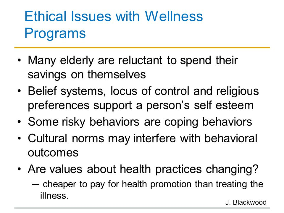 Ethical Issues with Wellness Programs