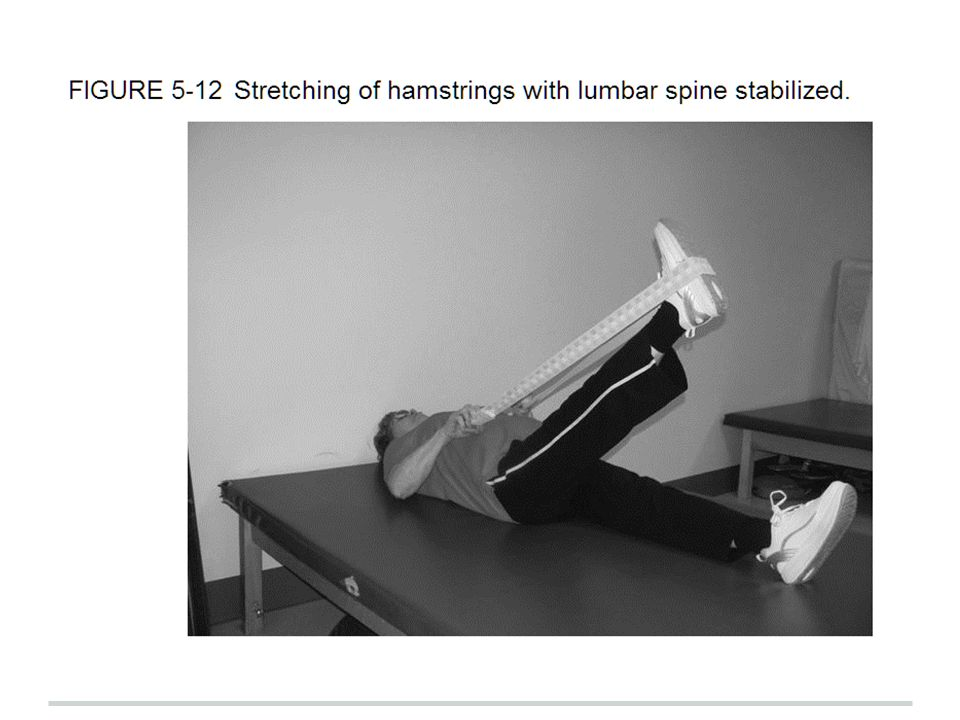 For example, while attempting to stretch the hamstrings by using trunk forward flexion, one may inadvertently be causing flexion forces to the lumbar spine.