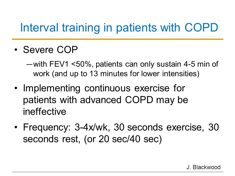 Interval training in patients with COPD