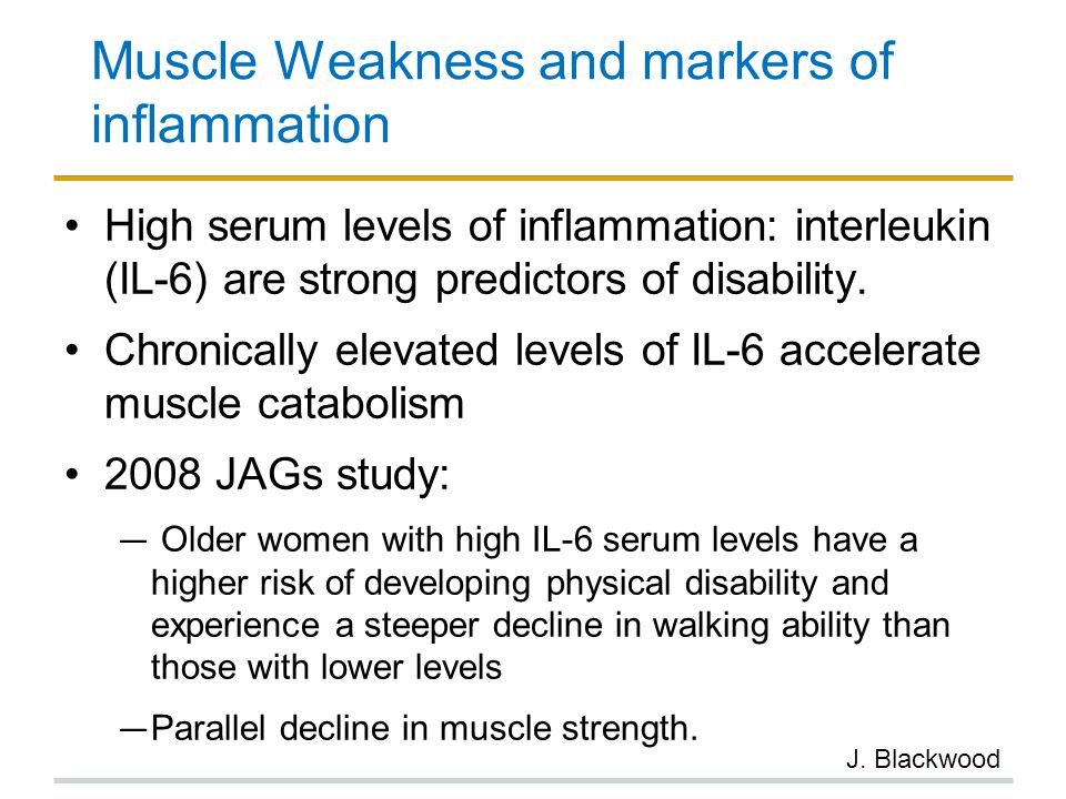 Muscle Weakness and markers of inflammation