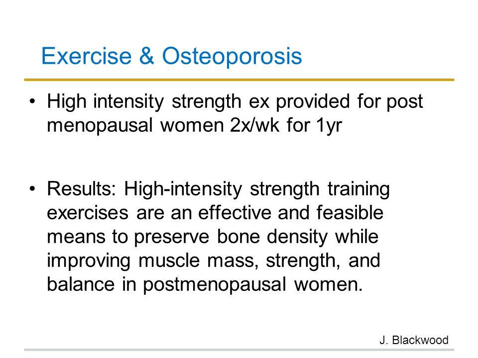 Exercise & Osteoporosis