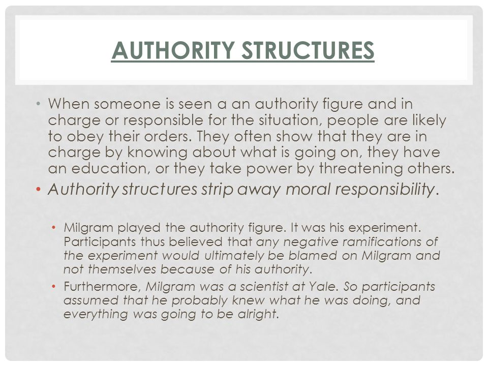 Authority Structures