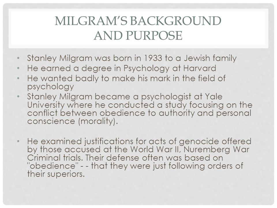 The perils of obedience by stanley milgram essay