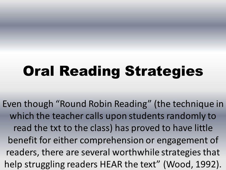 Oral Reading Strategies