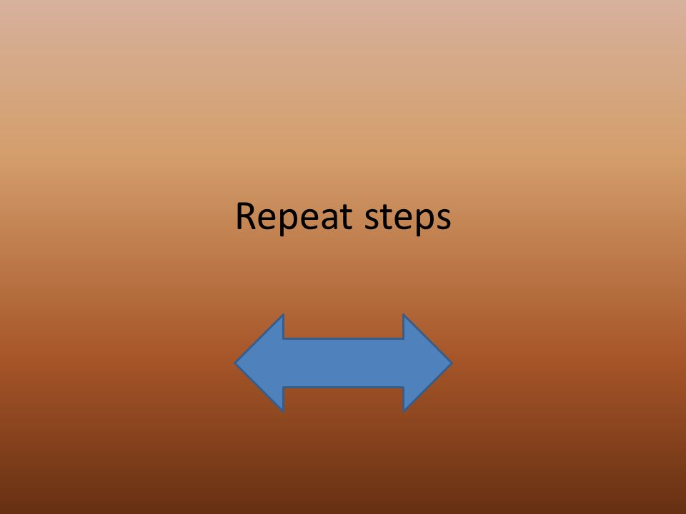 Repeat steps