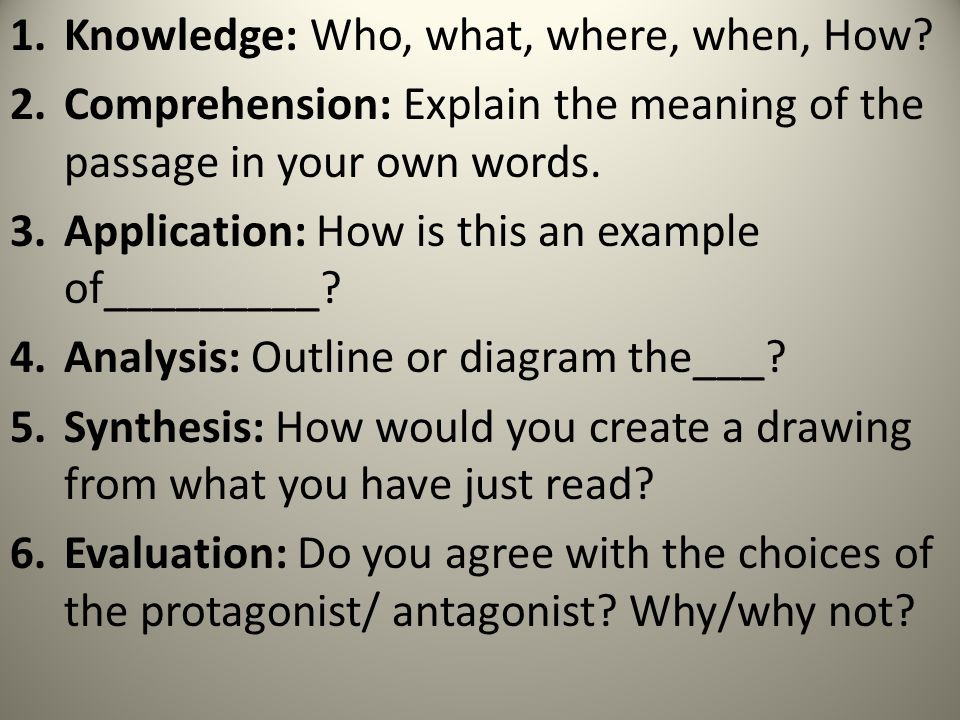 Knowledge: Who, what, where, when, How