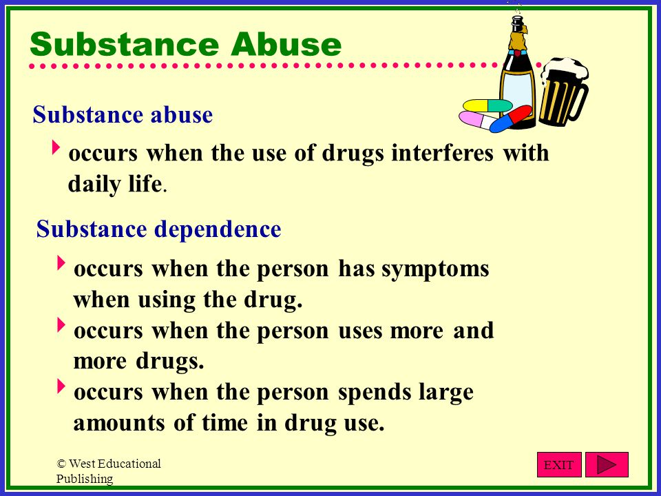 Substance Abuse Substance abuse