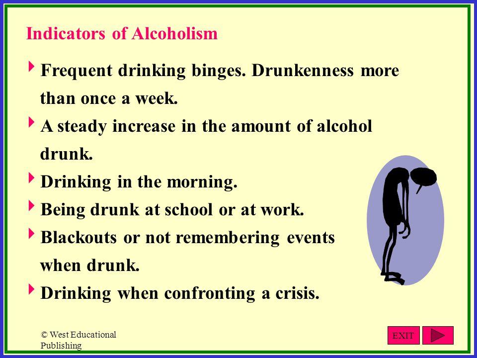 Indicators of Alcoholism