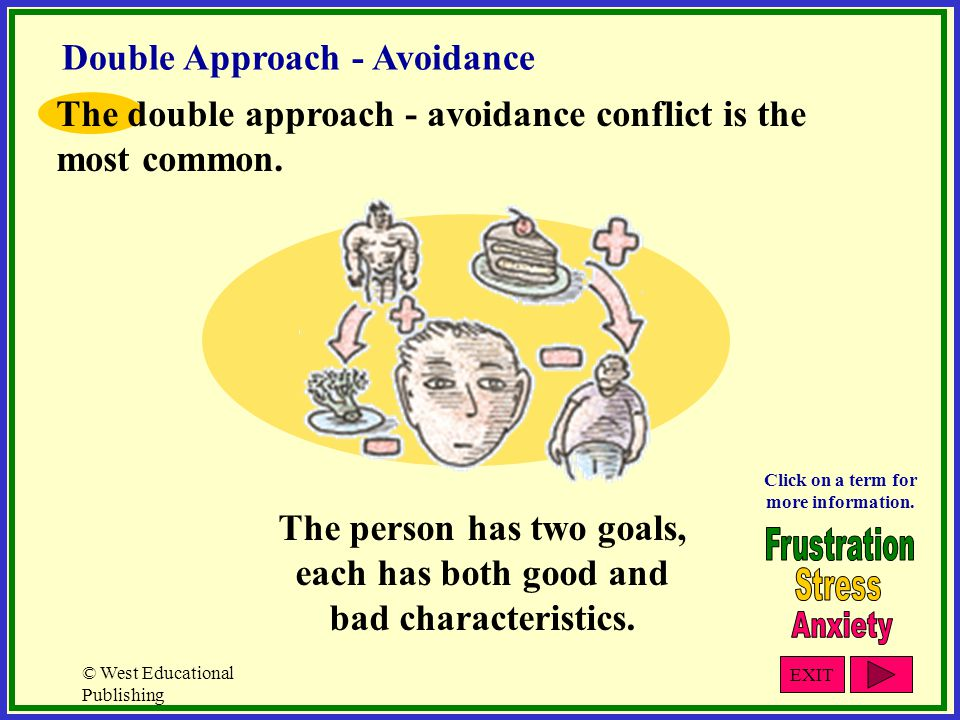 The person has two goals, each has both good and bad characteristics.