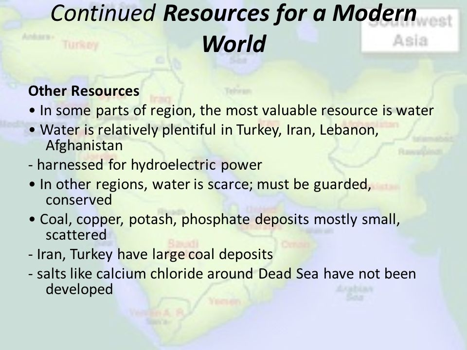 Continued Resources for a Modern World
