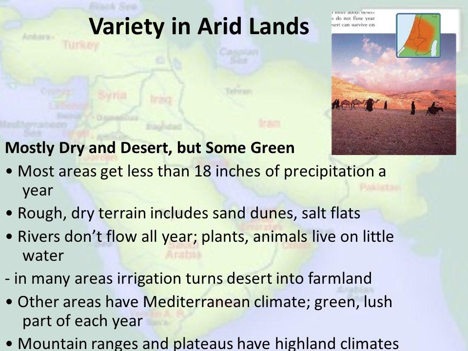 Variety in Arid Lands