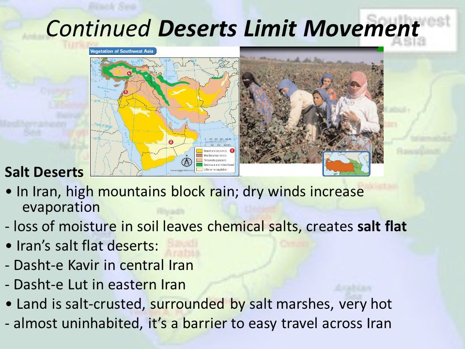 Continued Deserts Limit Movement