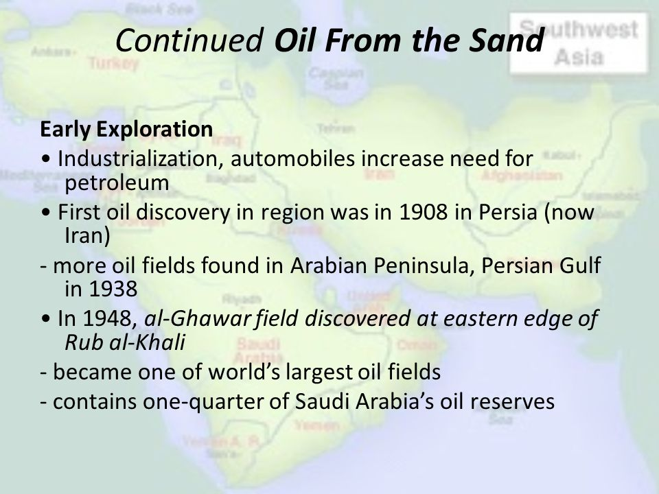Continued Oil From the Sand