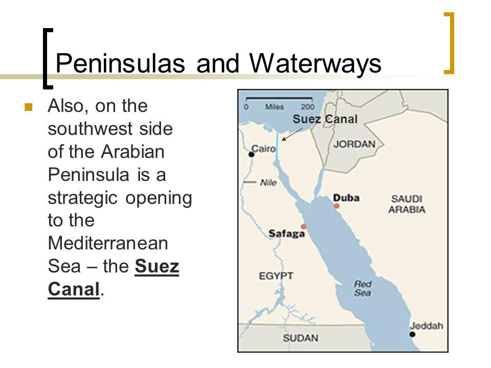 Peninsulas and Waterways