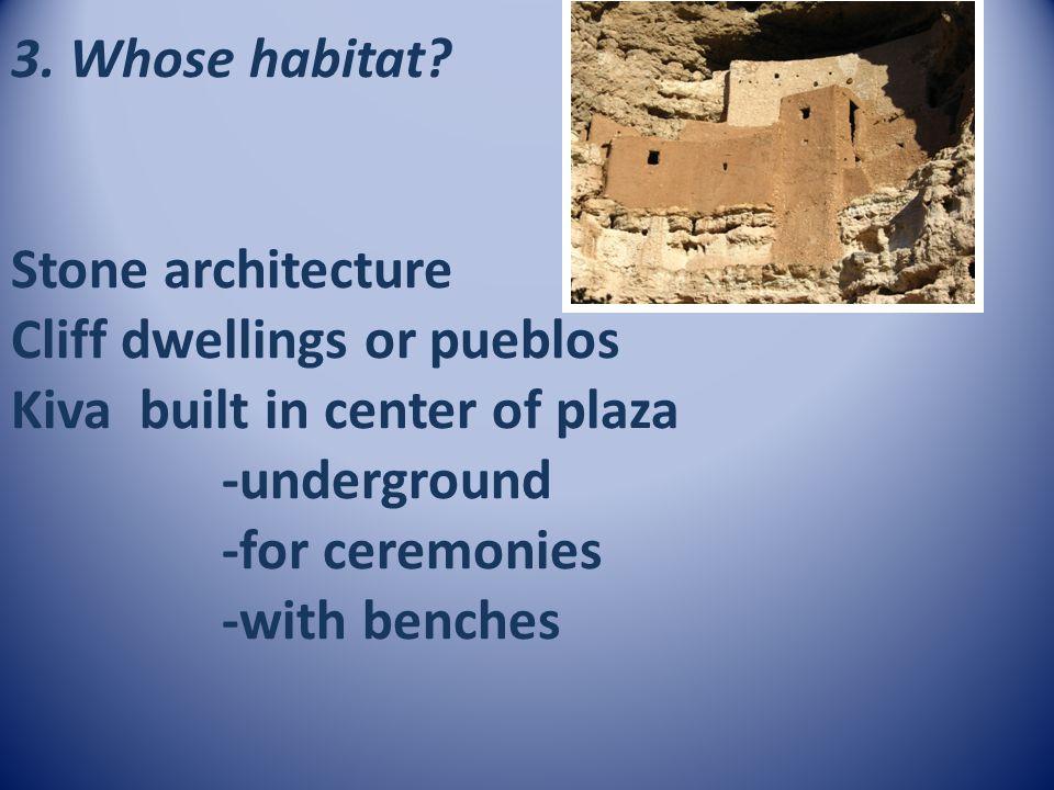 3. Whose habitat.