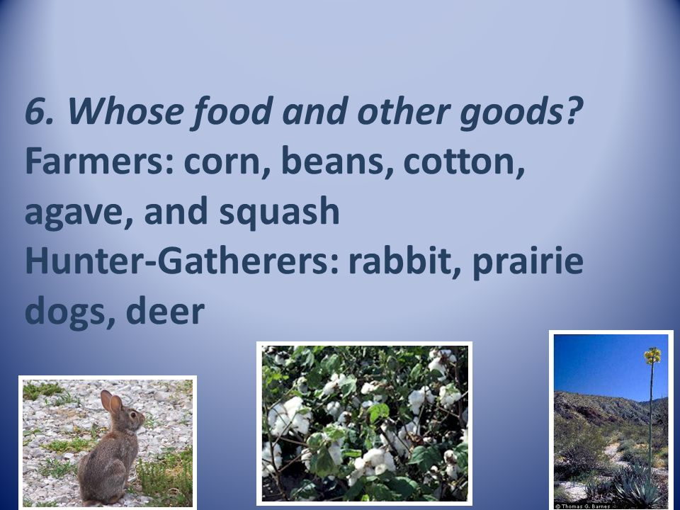 6. Whose food and other goods