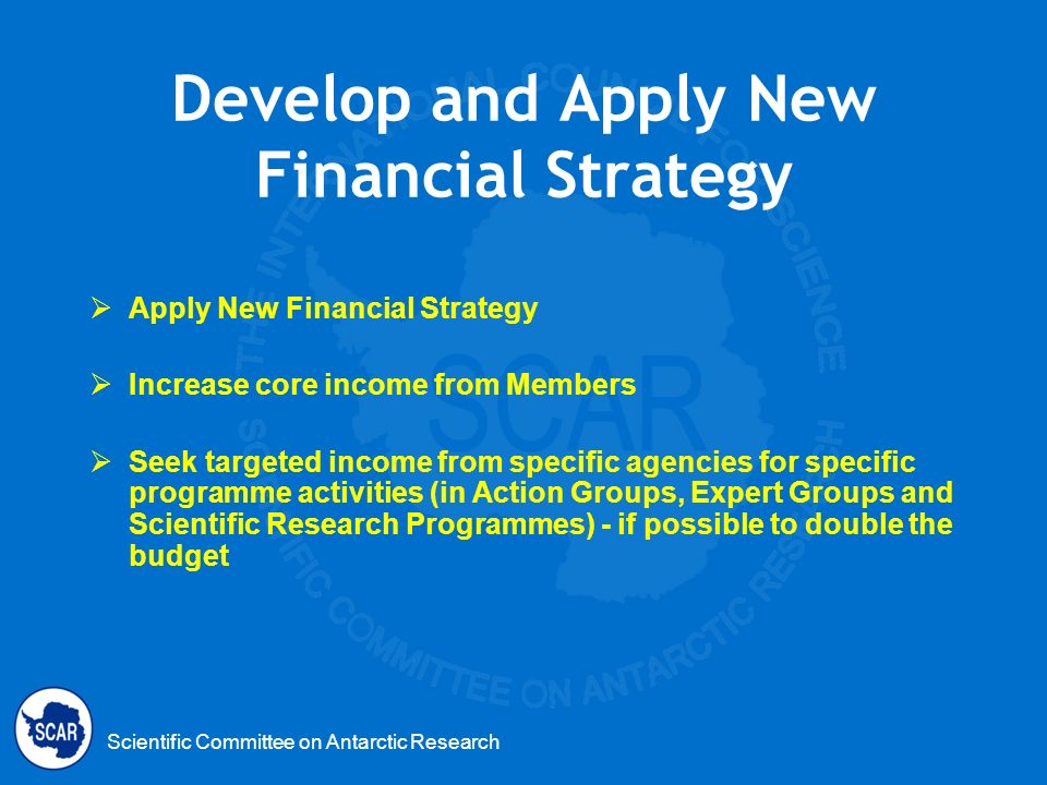 Develop and Apply New Financial Strategy