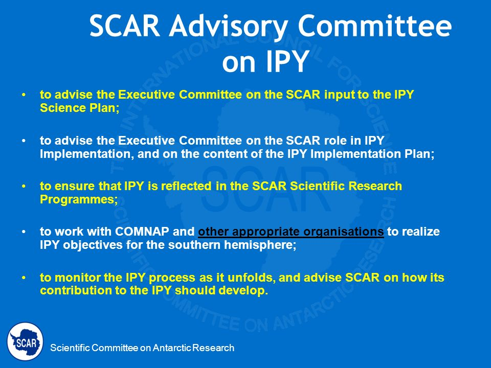 SCAR Advisory Committee on IPY