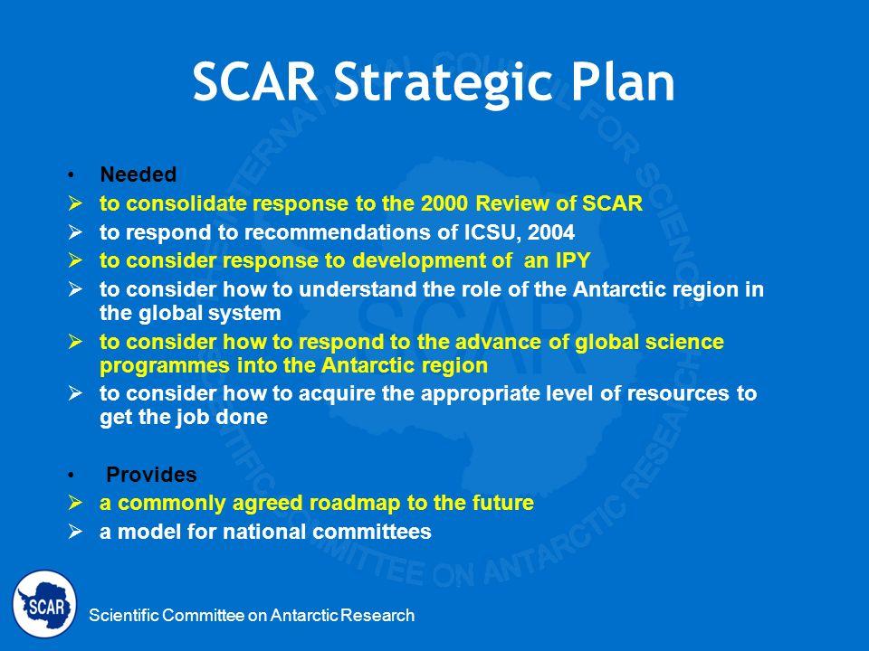 SCAR Strategic Plan Needed
