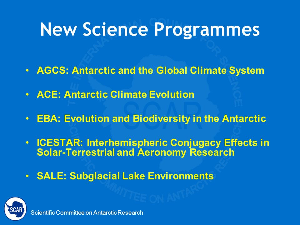 New Science Programmes