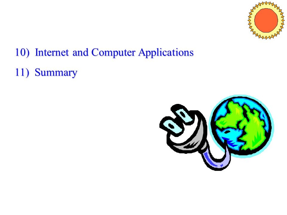 10) Internet and Computer Applications