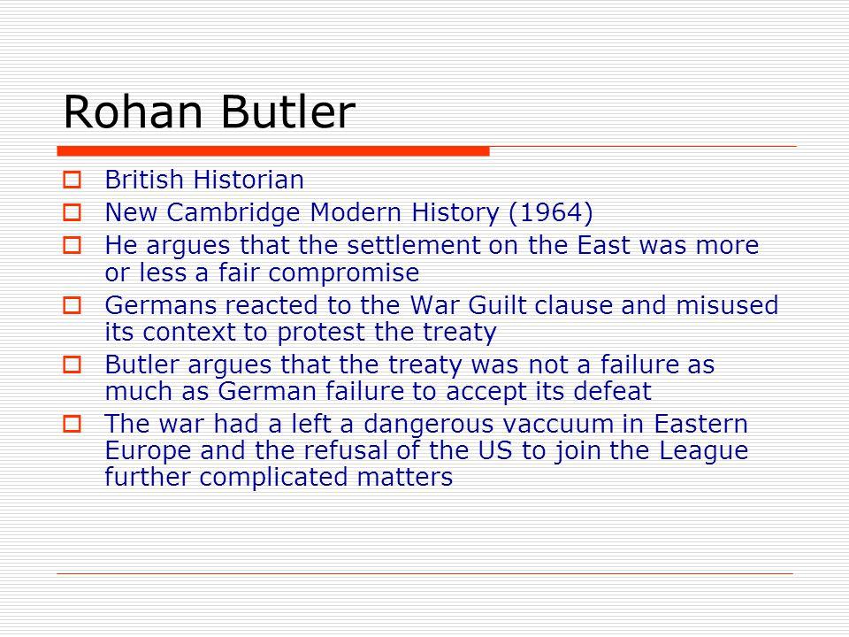 Rohan Butler British Historian New Cambridge Modern History (1964)