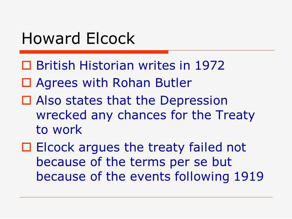 Howard Elcock British Historian writes in 1972