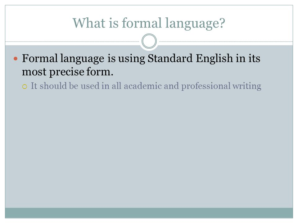 What is formal language