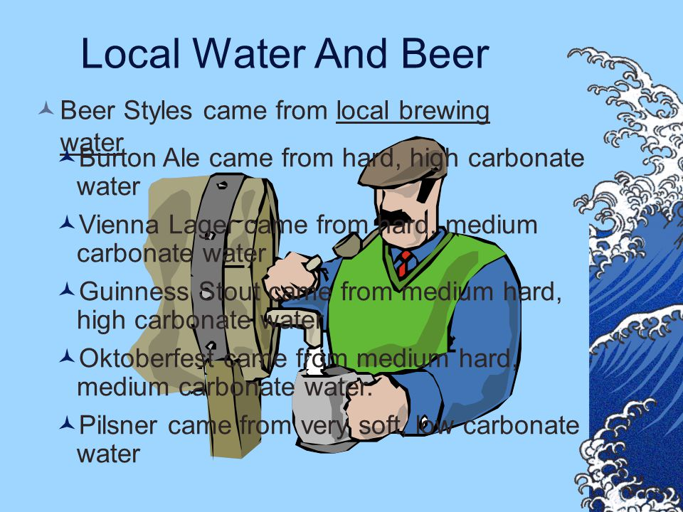 Local Water And Beer Beer Styles came from local brewing water