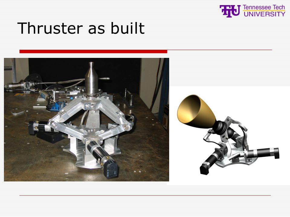 Thruster as built
