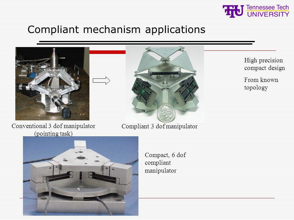 Compliant mechanism applications