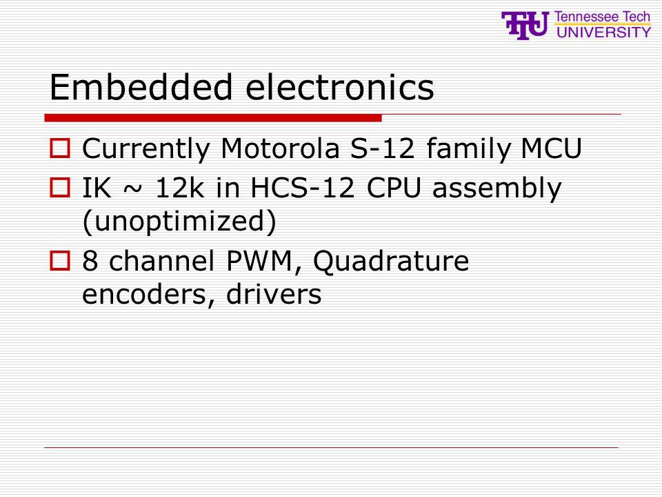 Embedded electronics Currently Motorola S-12 family MCU