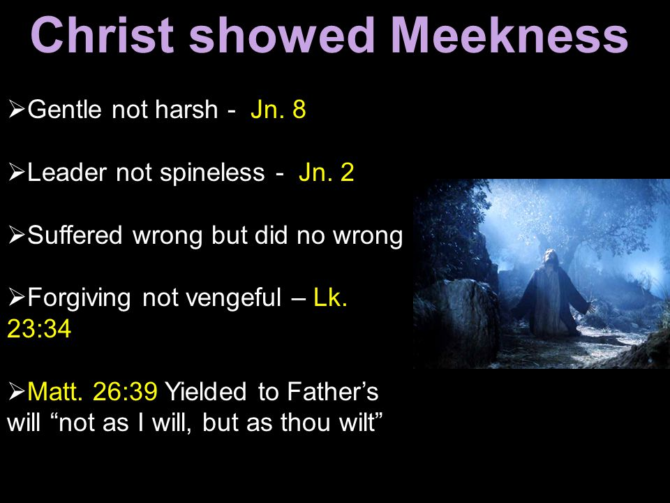 Christ showed Meekness