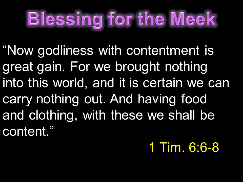 Blessing for the Meek