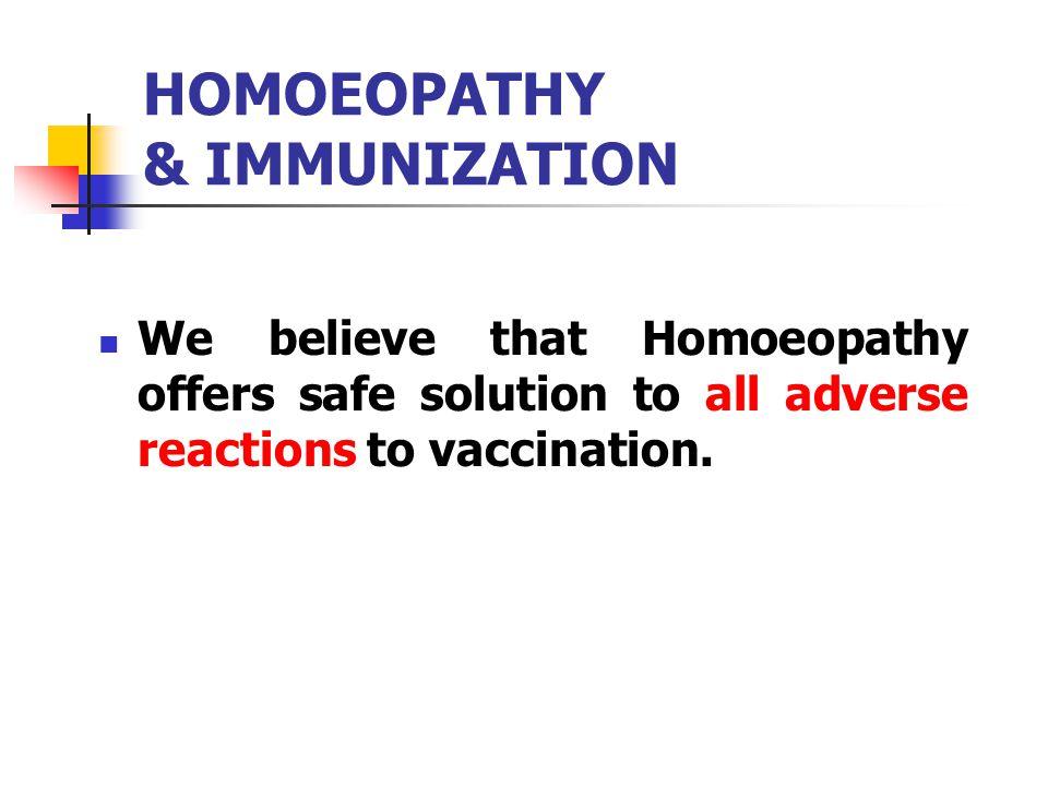 HOMOEOPATHY & IMMUNIZATION