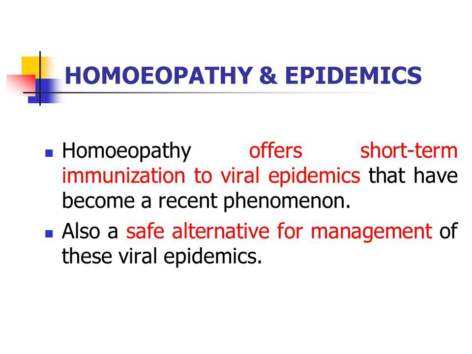 HOMOEOPATHY & EPIDEMICS