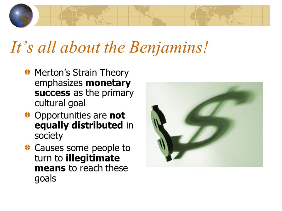 It's all about the Benjamins!