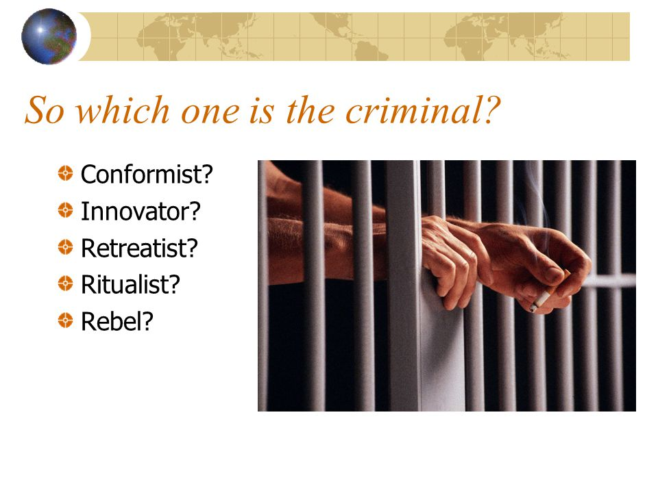 So which one is the criminal