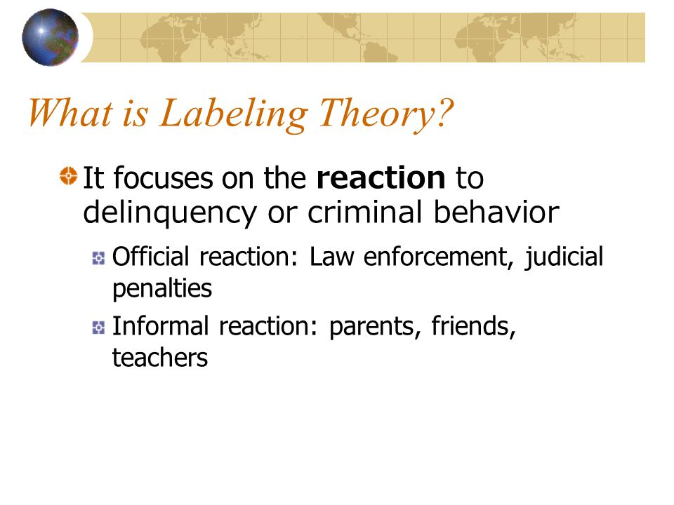 What is Labeling Theory