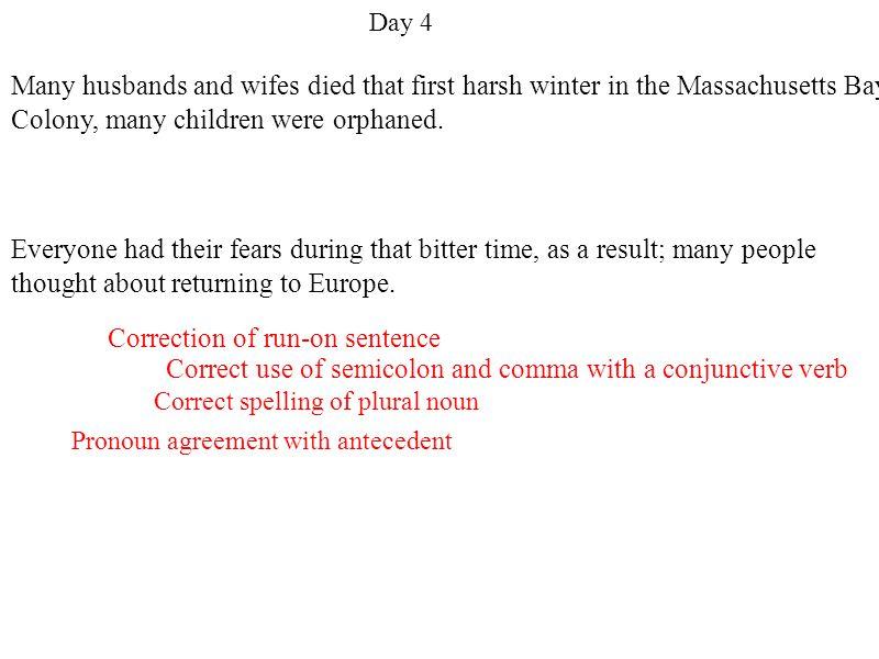 Correction of run-on sentence