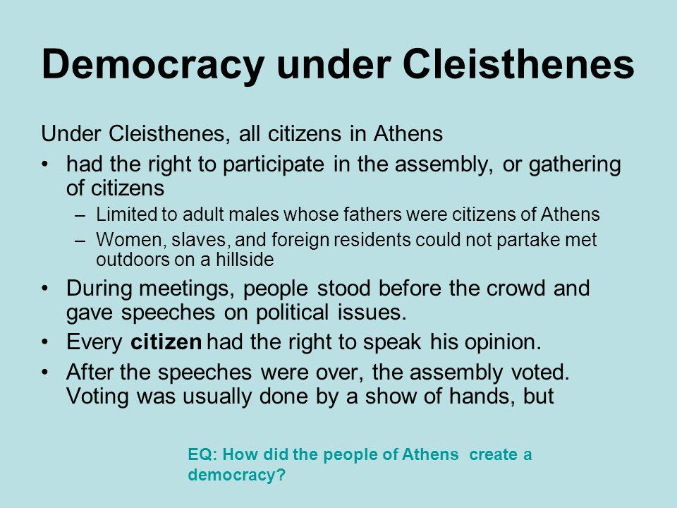 Democracy under Cleisthenes
