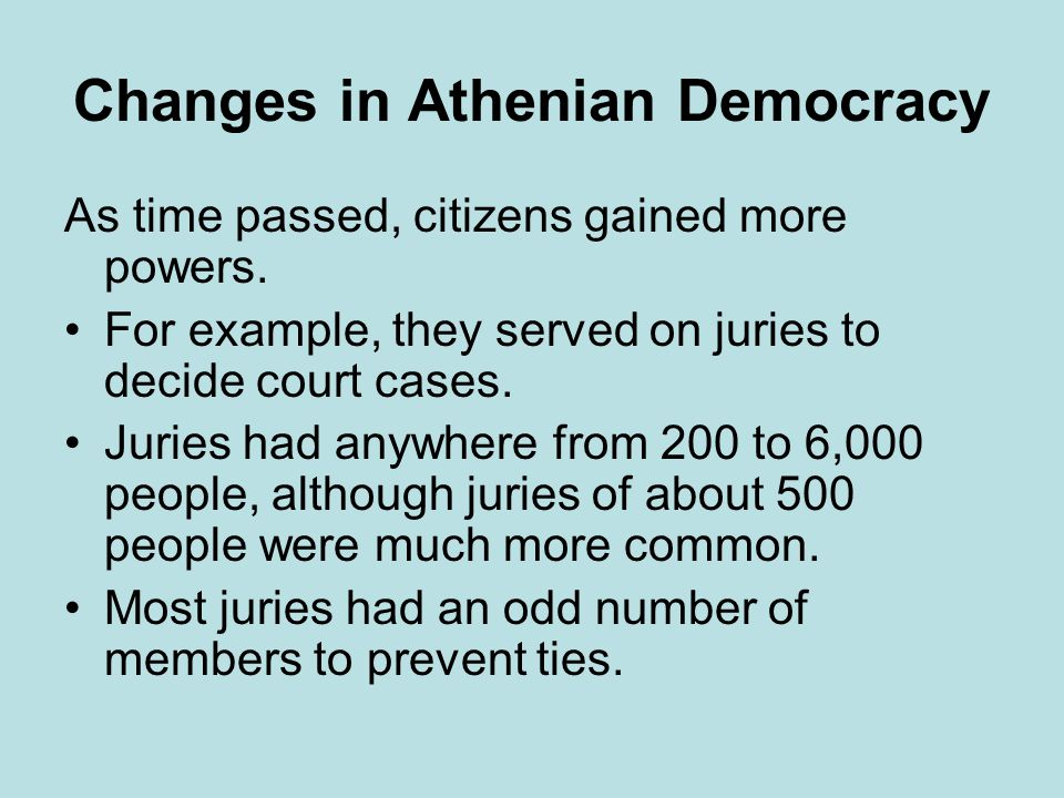 Changes in Athenian Democracy