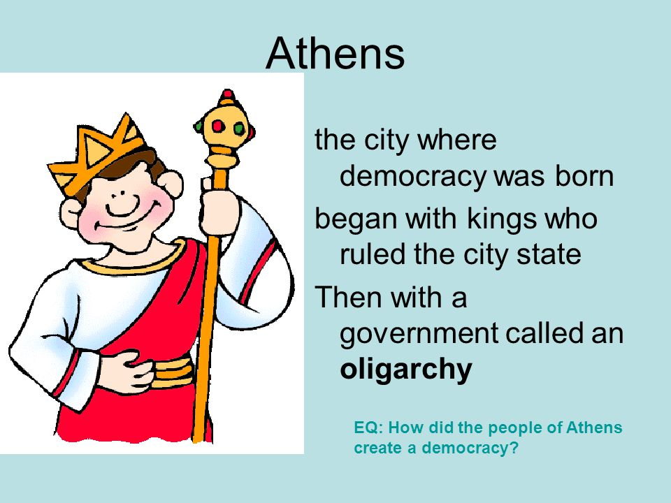 Athens the city where democracy was born
