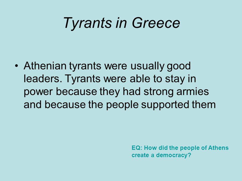 Tyrants in Greece