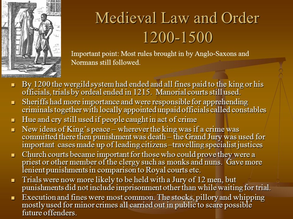 Medieval Law and Order 1200-1500