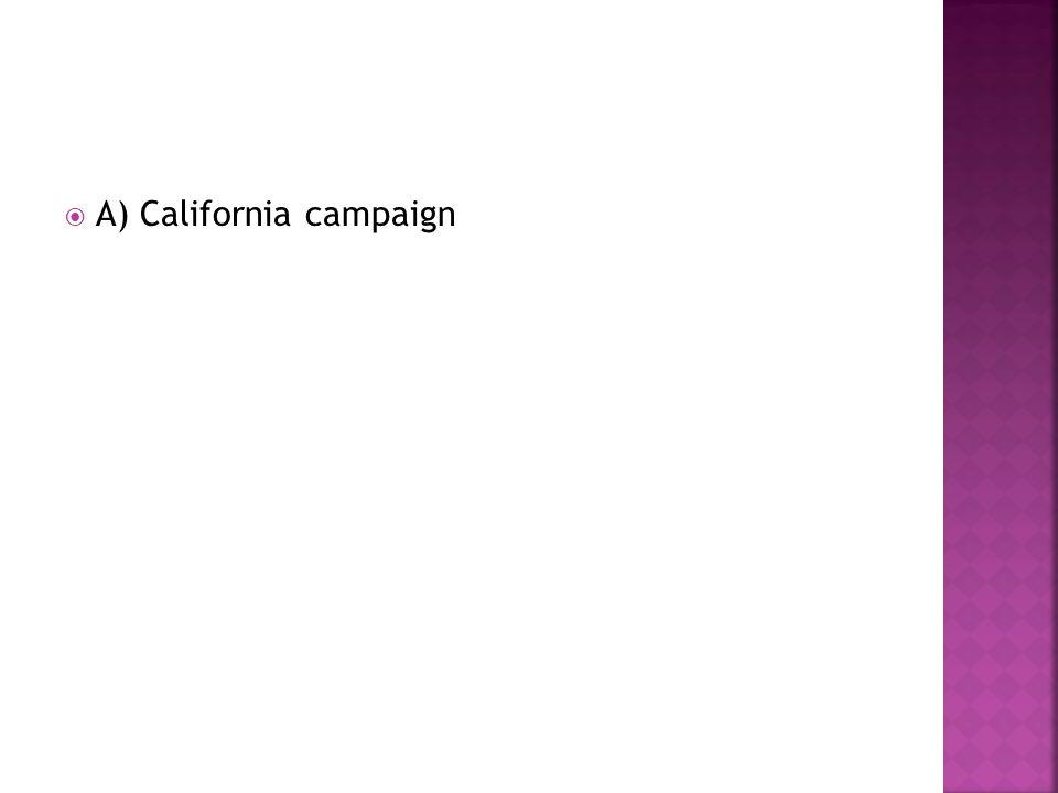 A) California campaign