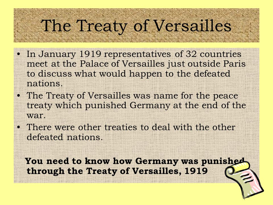 consequences of the treaty of versailles Things created german resentment towards the western world the effects of the  treaty of versailles weakened germany's government and.