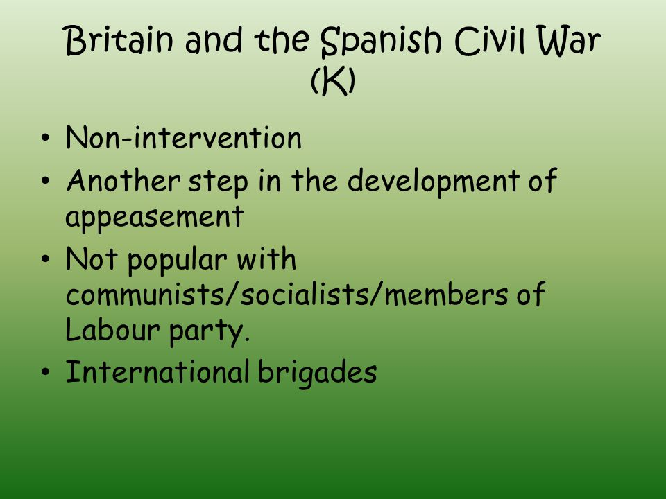 Britain and the Spanish Civil War (K)